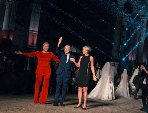 Ebe Group alla sfilata omaggio per Balestra a Cinecittà. Foto backstage e sfilata